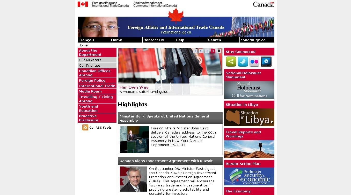 加拿大外交和国际贸易部