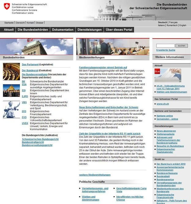 瑞士聯邦政府
