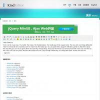 KindEditor编辑器